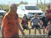 Футбольный матч в деревне Гайны для Поспредства